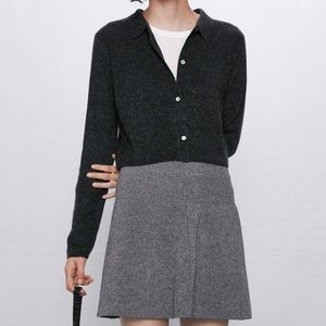 Zara ribbed crop cardigan 🍾